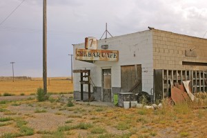 Abandoned bar along Main Street