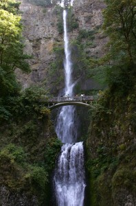 Multnomah Falls and Benson Bridge along the Historic Columbia River Highway