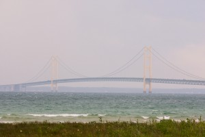 Mackinac Bridge seen from St. Ignace